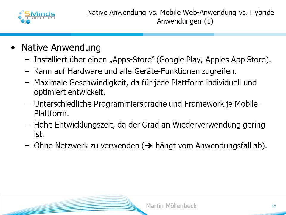 Native Anwendung vs. Mobile Web-Anwendung vs. Hybride Anwendungen (1)