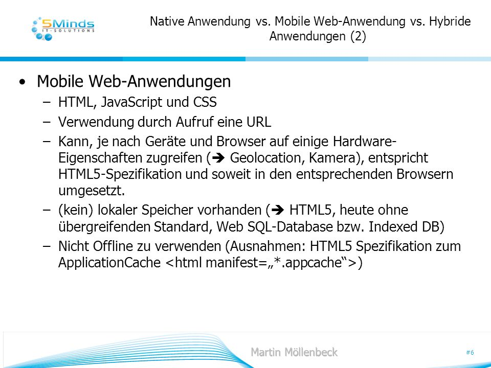 Native Anwendung vs. Mobile Web-Anwendung vs. Hybride Anwendungen (2)