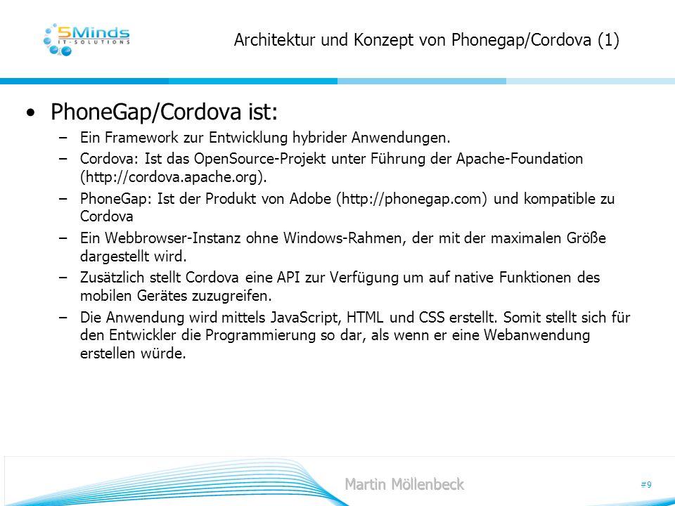 Architektur und Konzept von Phonegap/Cordova (1)