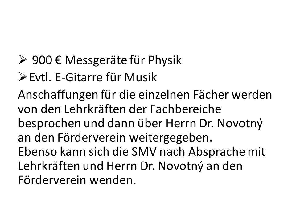 900 € Messgeräte für Physik