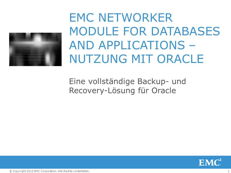 Eine vollständige Backup- und Recovery-Lösung für Oracle