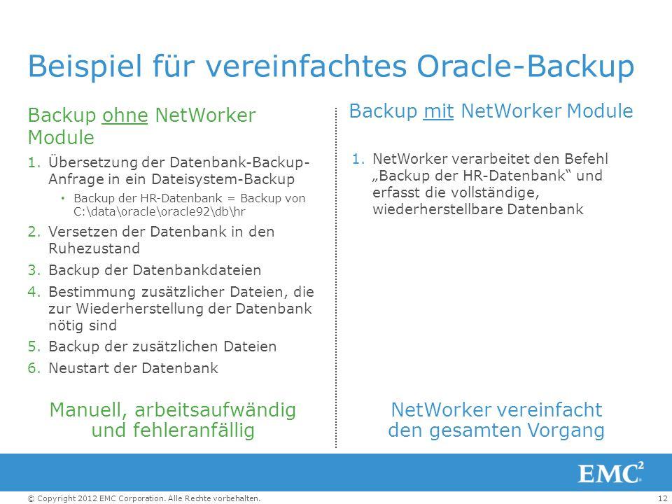 Beispiel für vereinfachtes Oracle-Backup