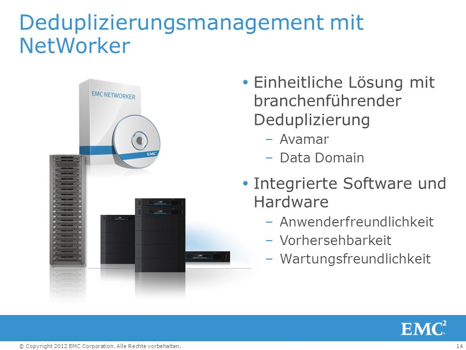 Deduplizierungsmanagement mit NetWorker