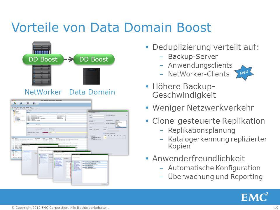 Vorteile von Data Domain Boost