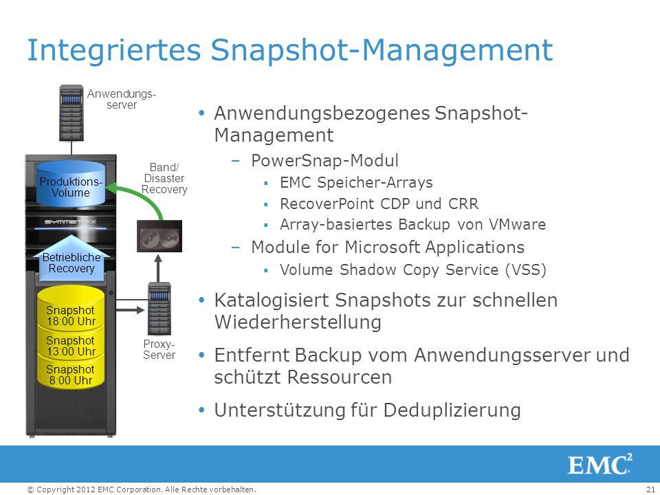 Integriertes Snapshot-Management