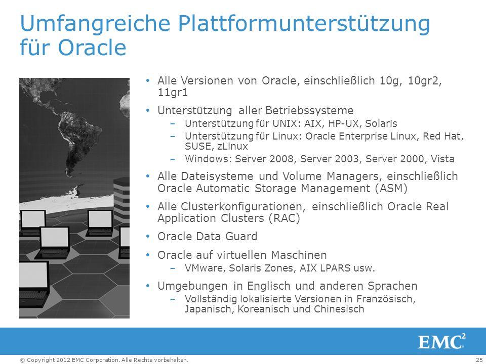Umfangreiche Plattformunterstützung für Oracle