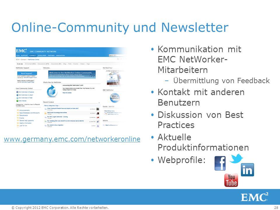 Online-Community und Newsletter