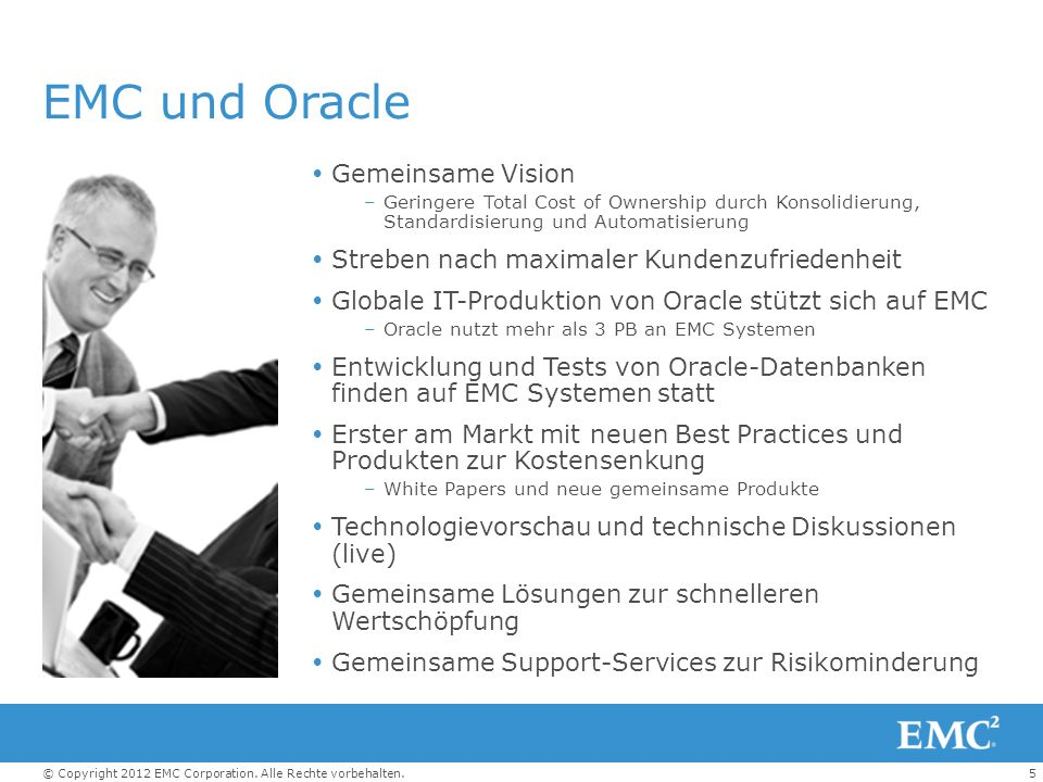EMC und Oracle Gemeinsame Vision