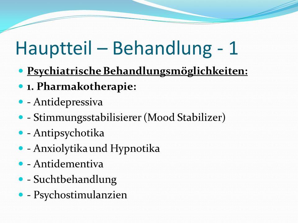 Hauptteil – Behandlung - 1