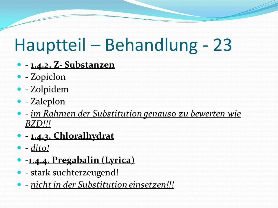 Hauptteil – Behandlung - 23