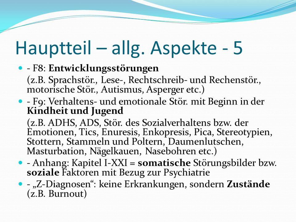 Hauptteil – allg. Aspekte - 5