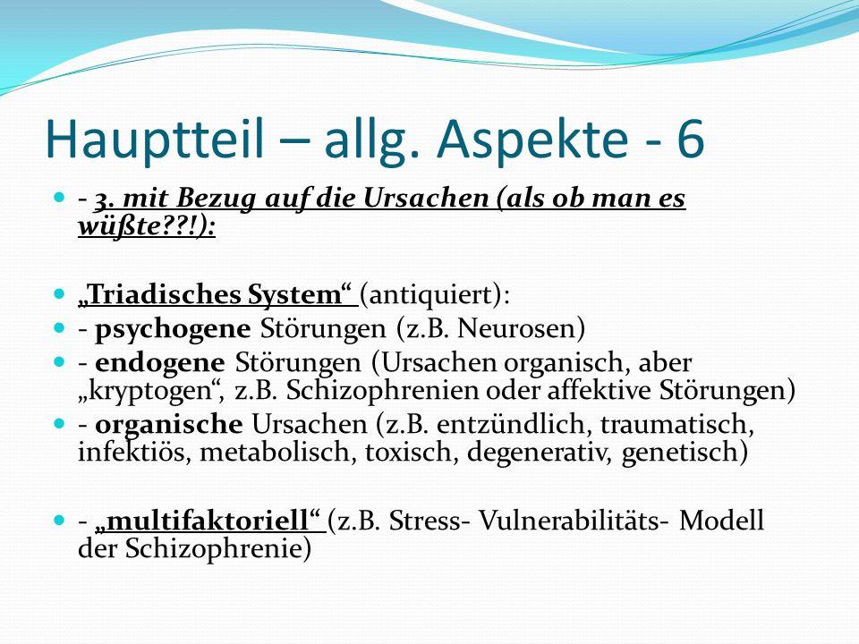Hauptteil – allg. Aspekte - 6