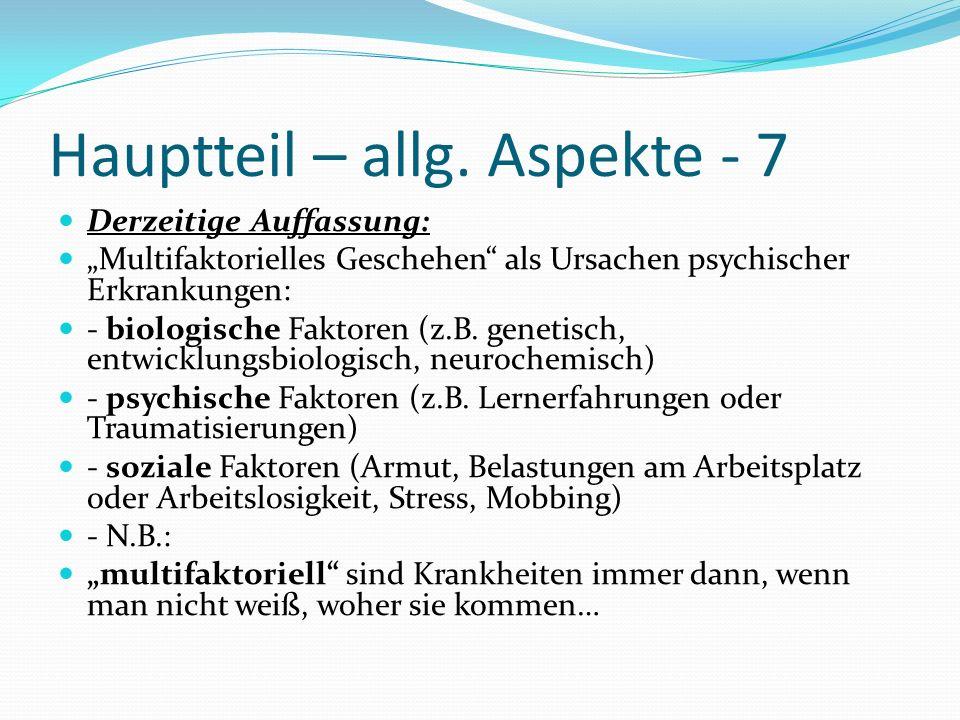 Hauptteil – allg. Aspekte - 7