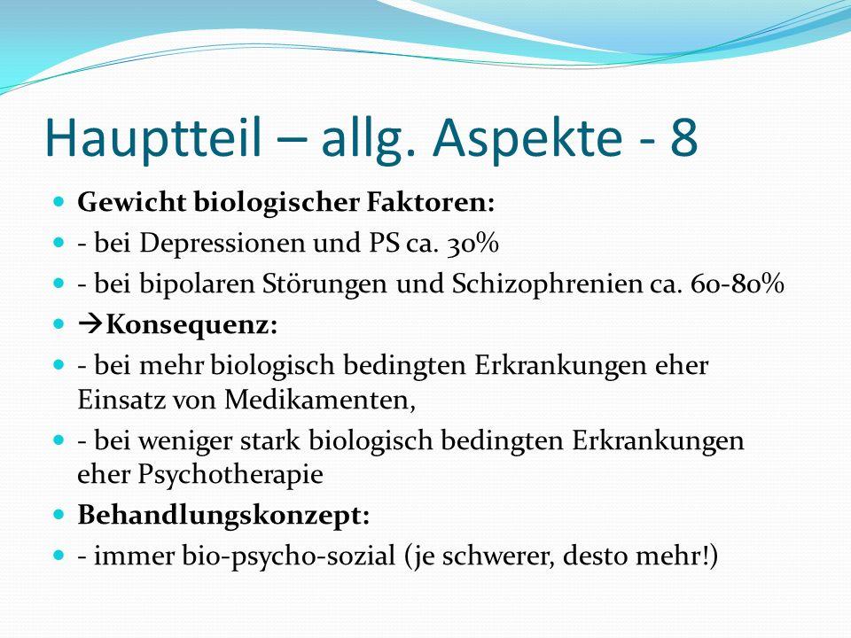 Hauptteil – allg. Aspekte - 8