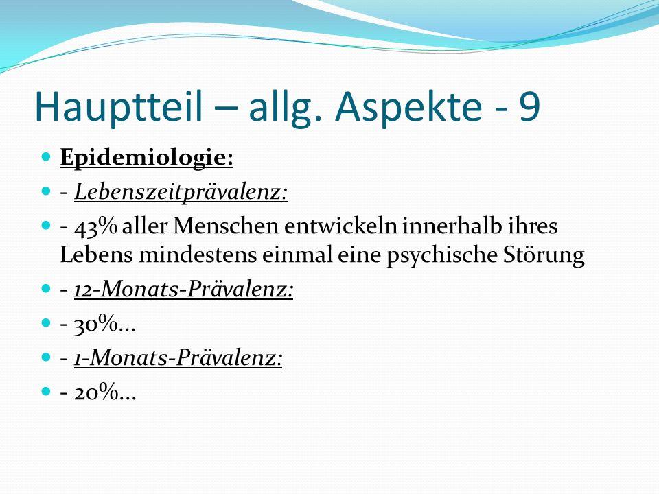 Hauptteil – allg. Aspekte - 9