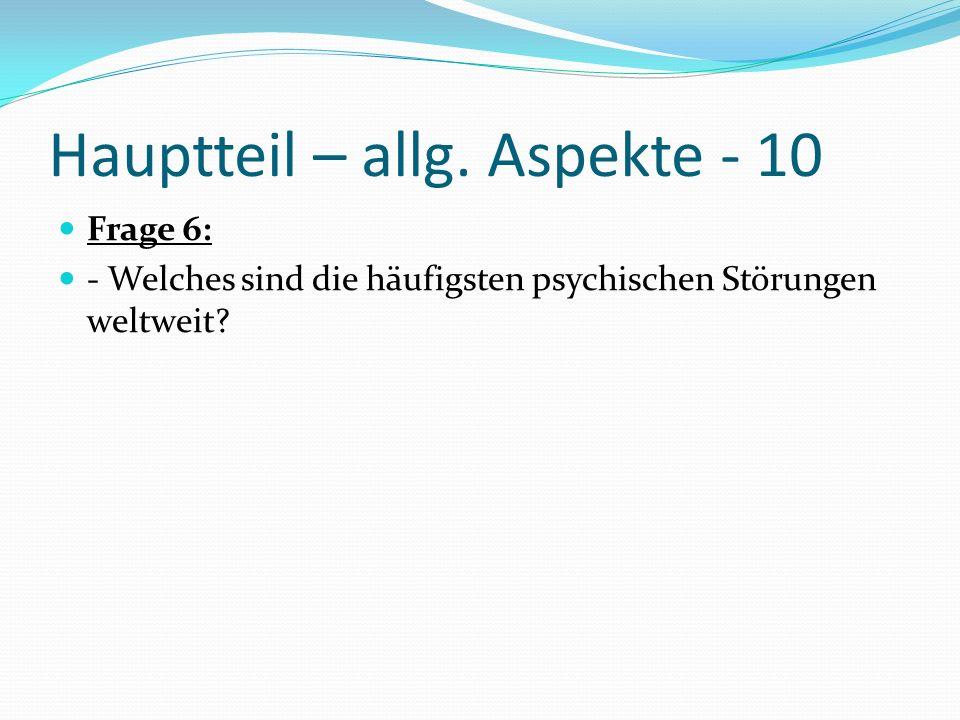 Hauptteil – allg. Aspekte - 10