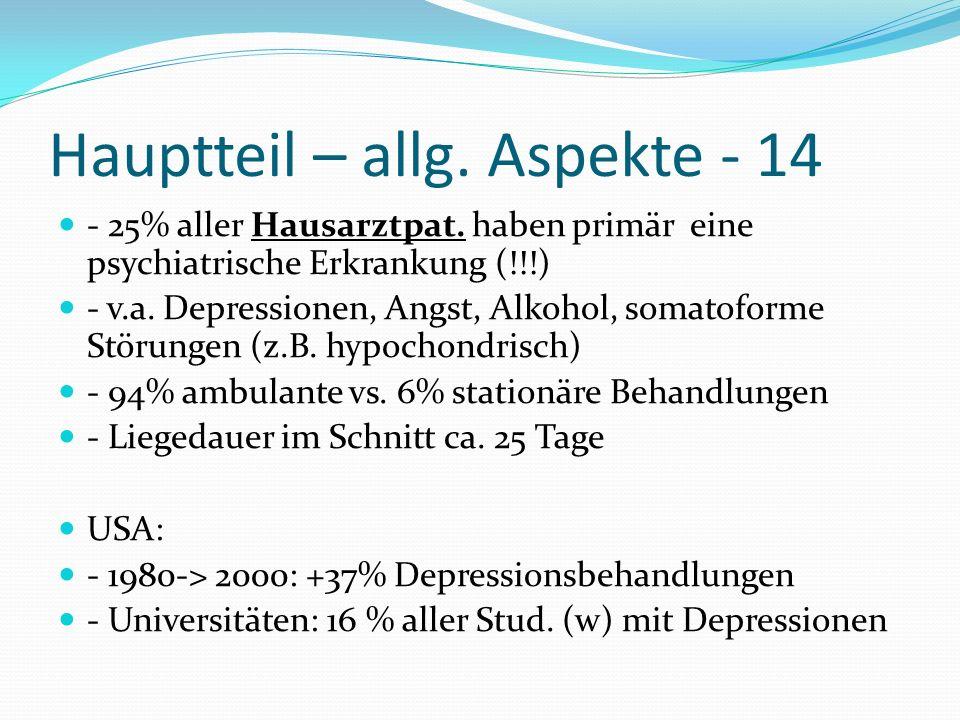 Hauptteil – allg. Aspekte - 14
