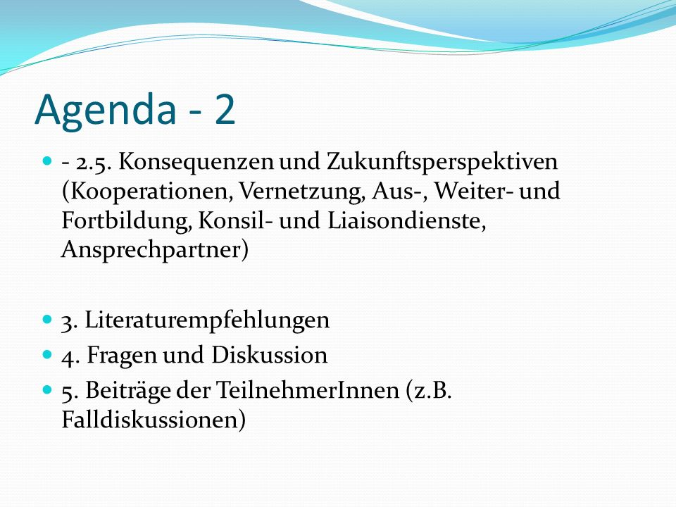 Agenda - 2