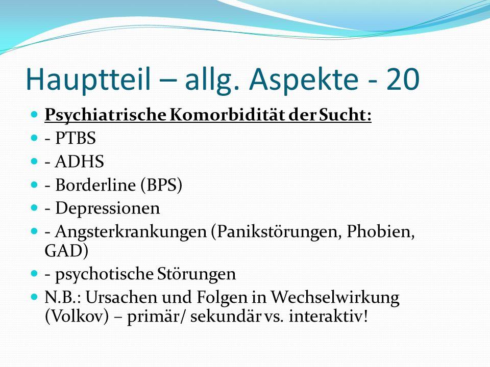 Hauptteil – allg. Aspekte - 20