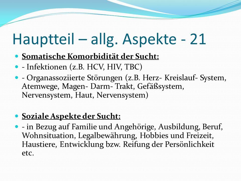 Hauptteil – allg. Aspekte - 21