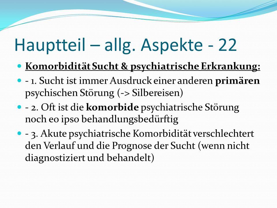 Hauptteil – allg. Aspekte - 22