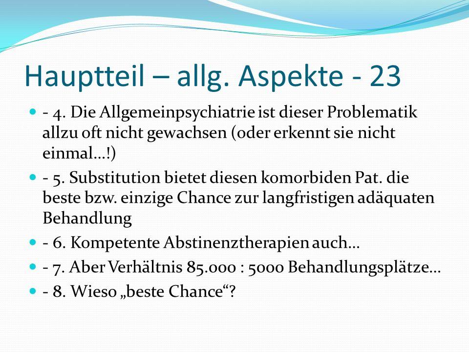 Hauptteil – allg. Aspekte - 23