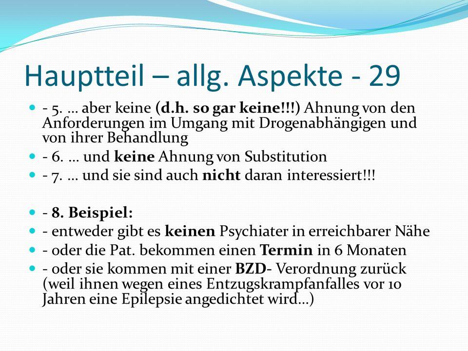 Hauptteil – allg. Aspekte - 29