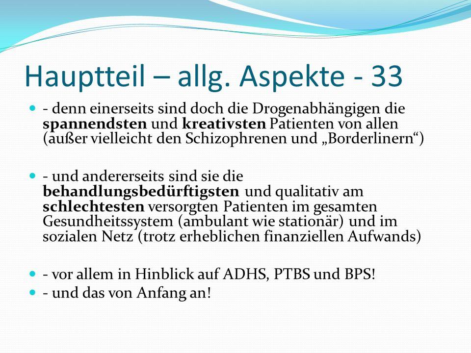 Hauptteil – allg. Aspekte - 33
