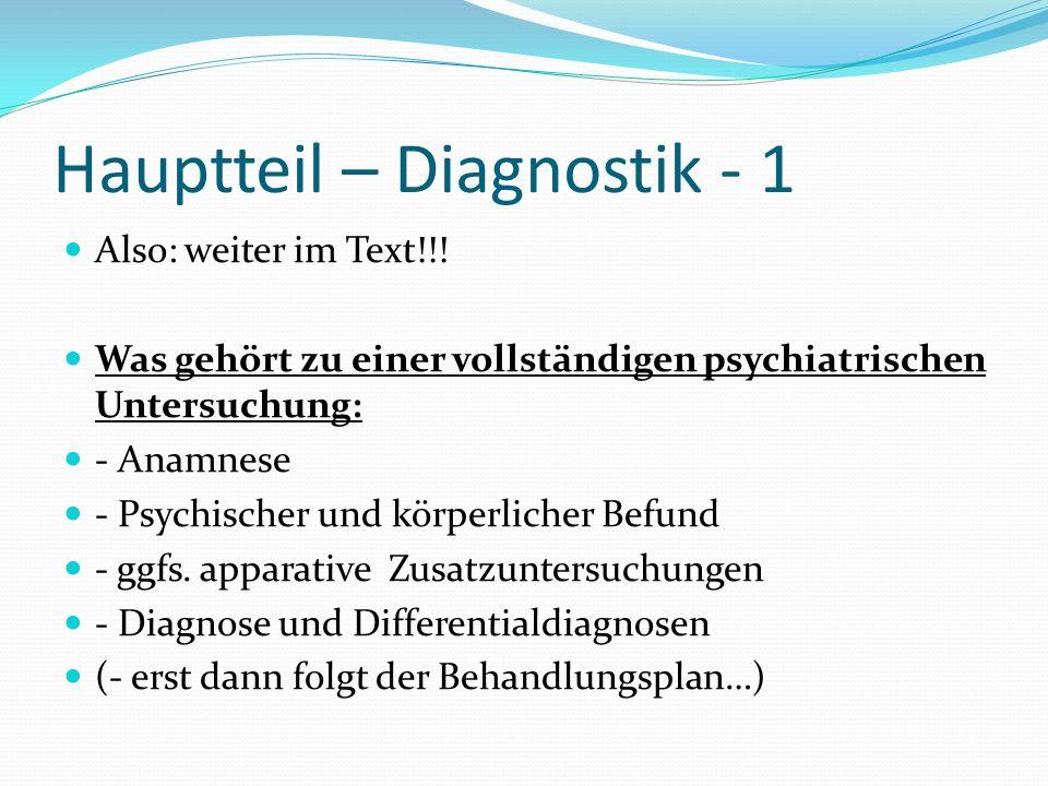 Hauptteil – Diagnostik - 1