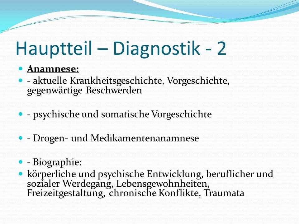Hauptteil – Diagnostik - 2