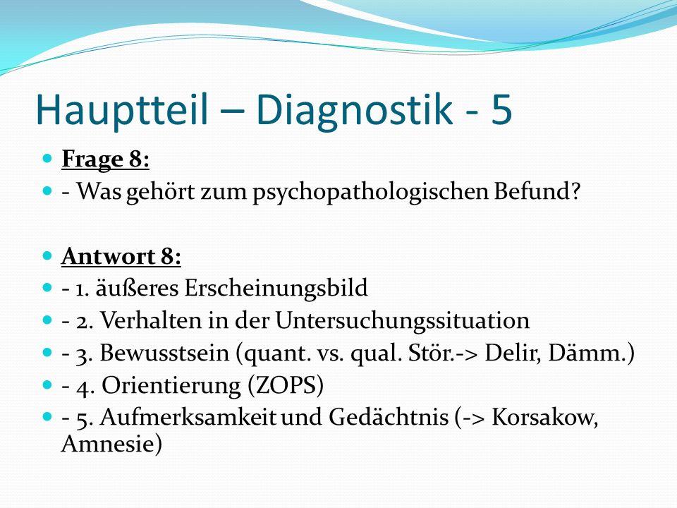 Hauptteil – Diagnostik - 5