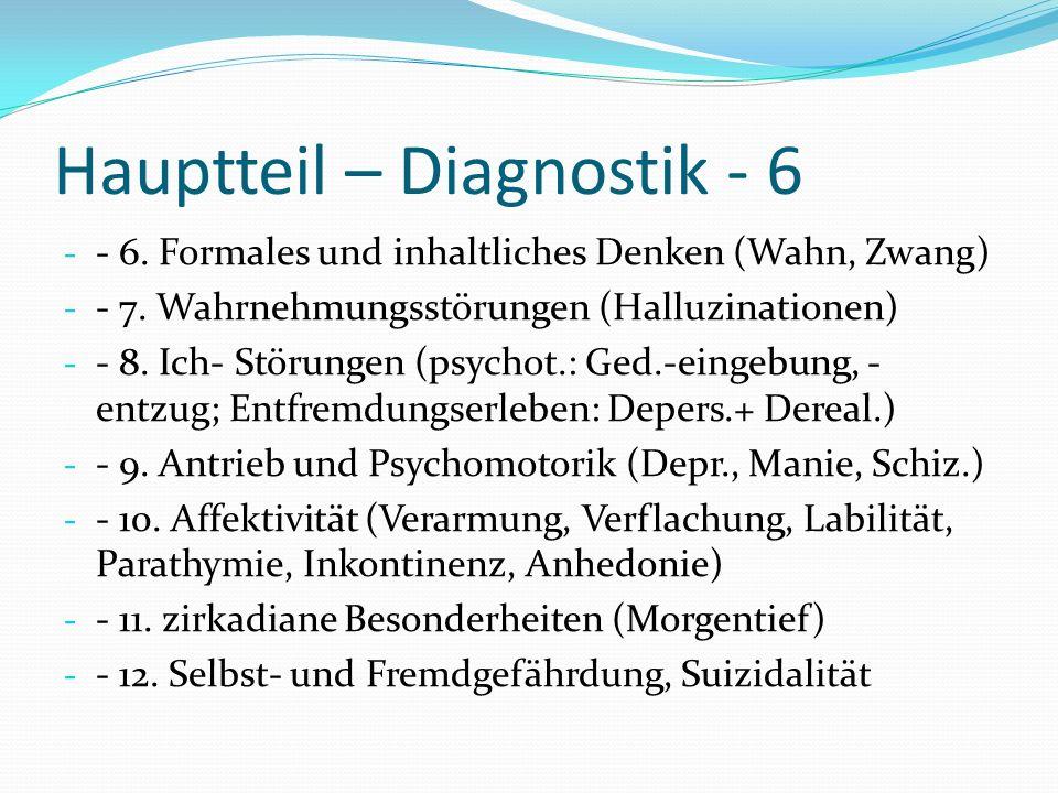 Hauptteil – Diagnostik - 6