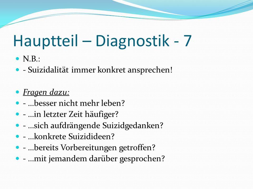 Hauptteil – Diagnostik - 7