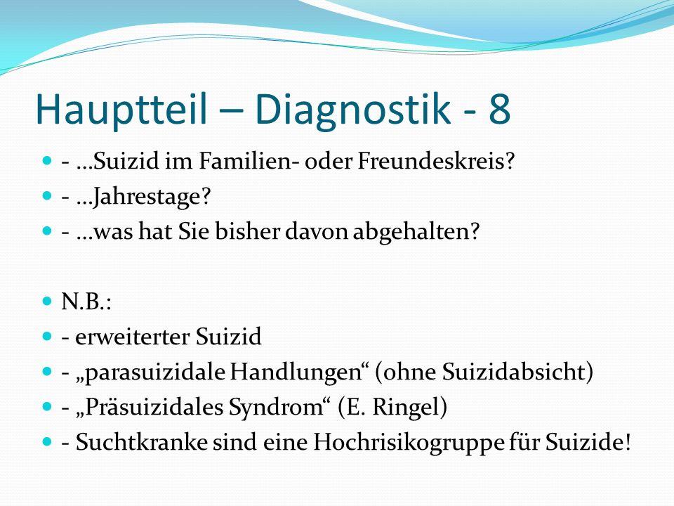Hauptteil – Diagnostik - 8