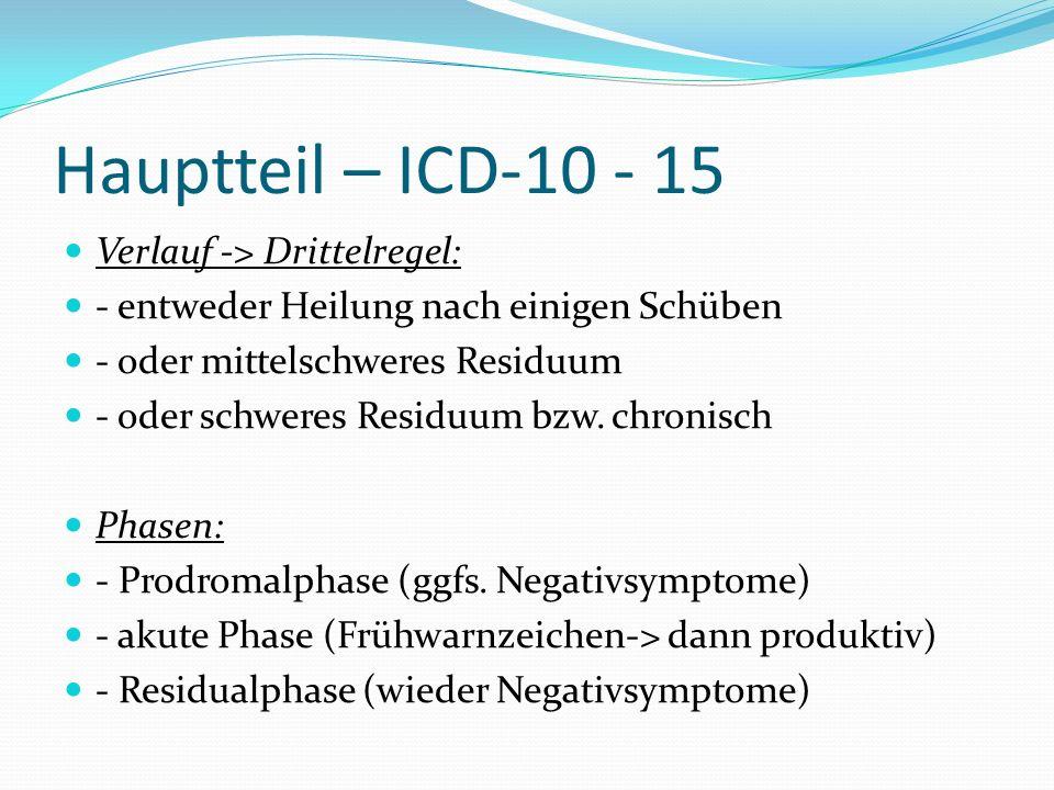 Hauptteil – ICD-10 - 15 Verlauf -> Drittelregel: