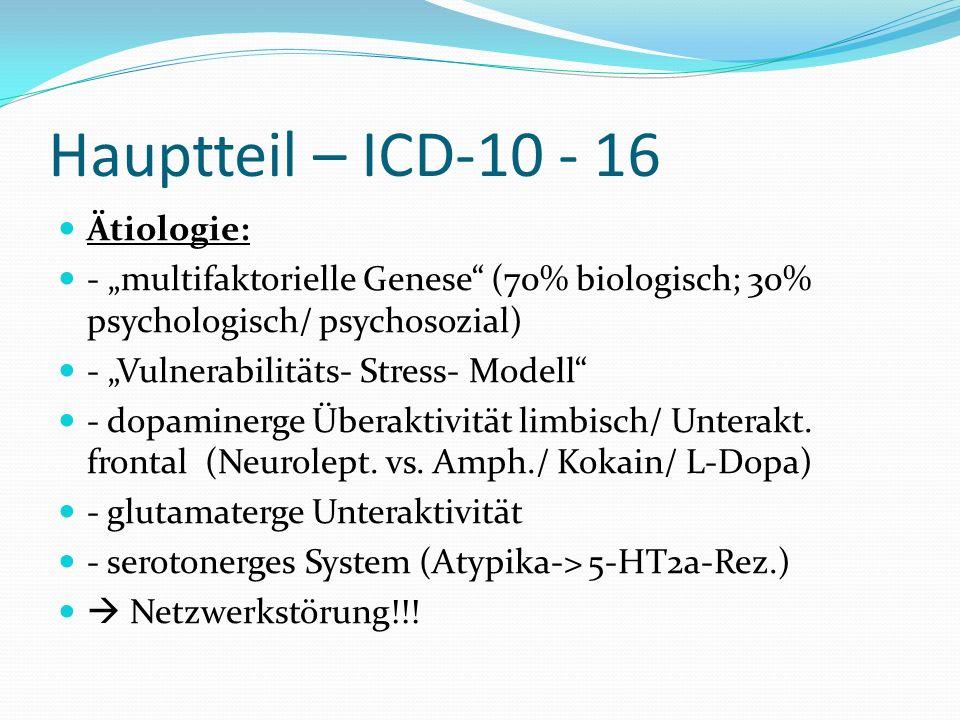 Hauptteil – ICD-10 - 16 Ätiologie: