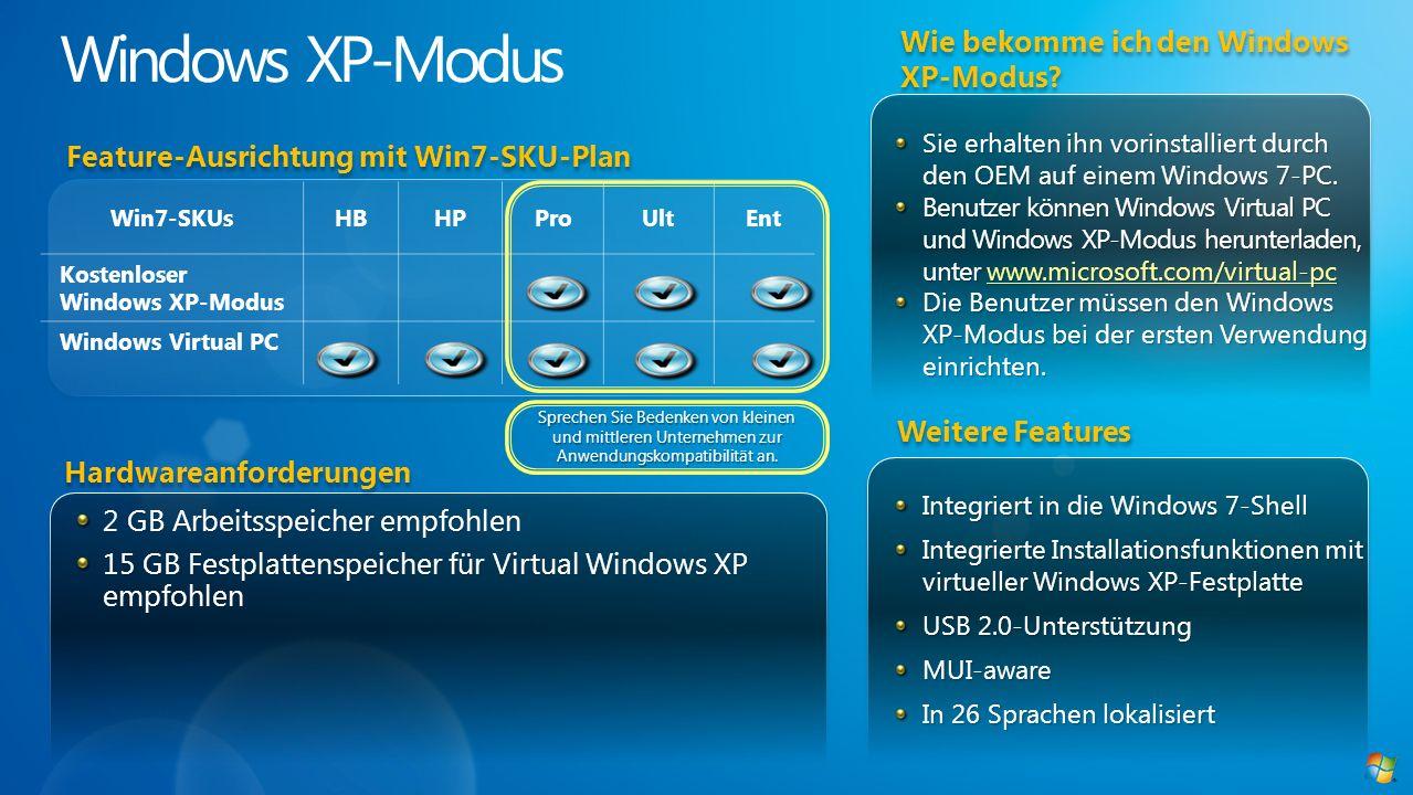 Windows XP-Modus Wie bekomme ich den Windows XP-Modus