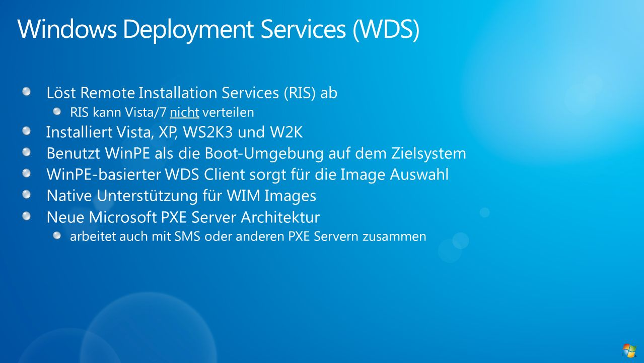 Windows Deployment Services (WDS)