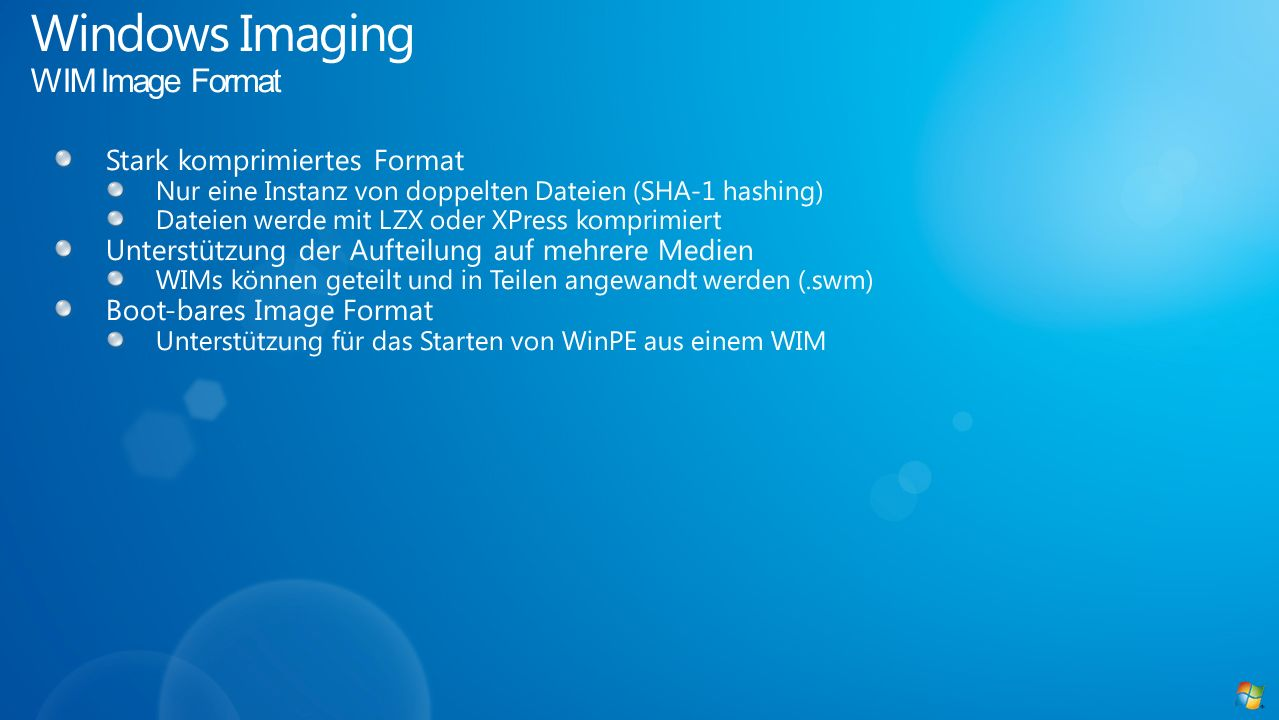 Windows Imaging WIM Image Format