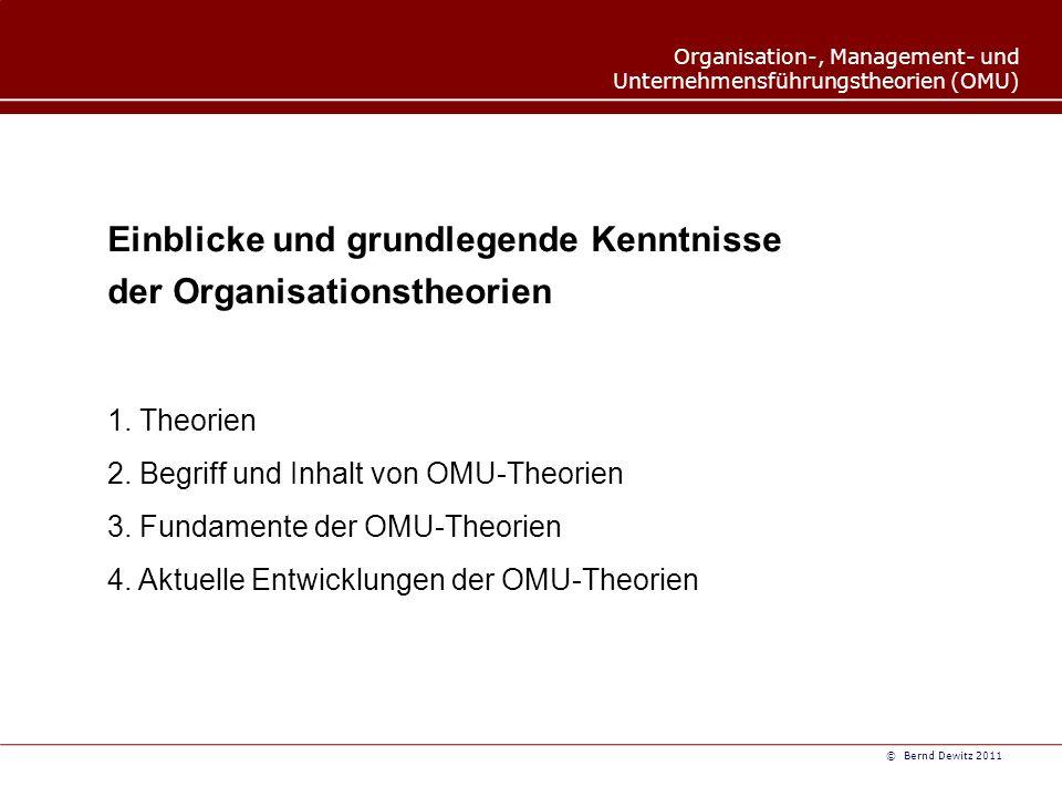 Einblicke und grundlegende Kenntnisse der Organisationstheorien