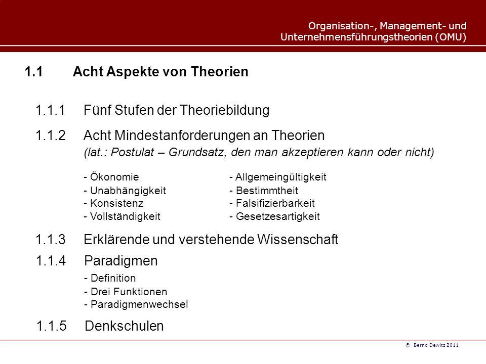 1.1 Acht Aspekte von Theorien