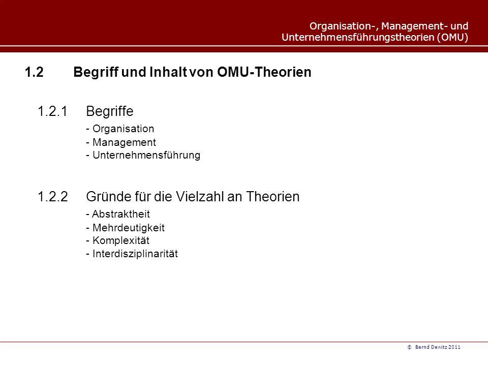 1.2 Begriff und Inhalt von OMU-Theorien