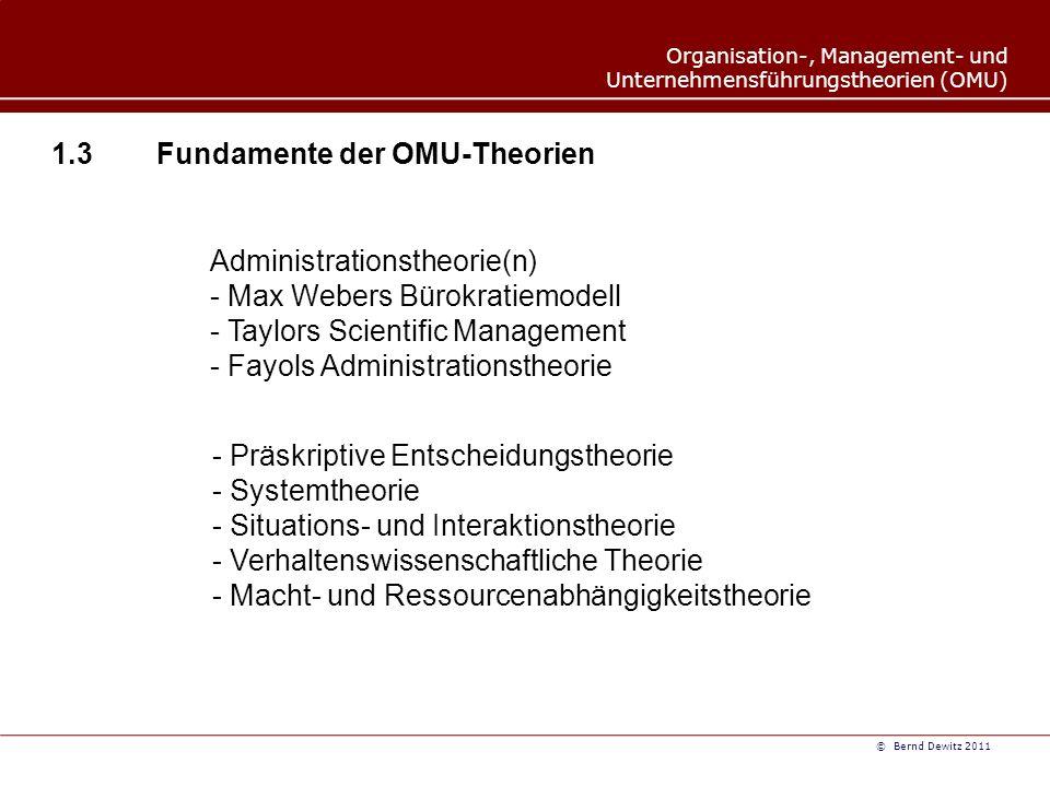 1.3 Fundamente der OMU-Theorien