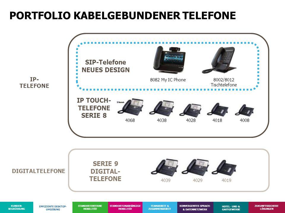 PORTFOLIO KABELGEBUNDENER TELEFONE