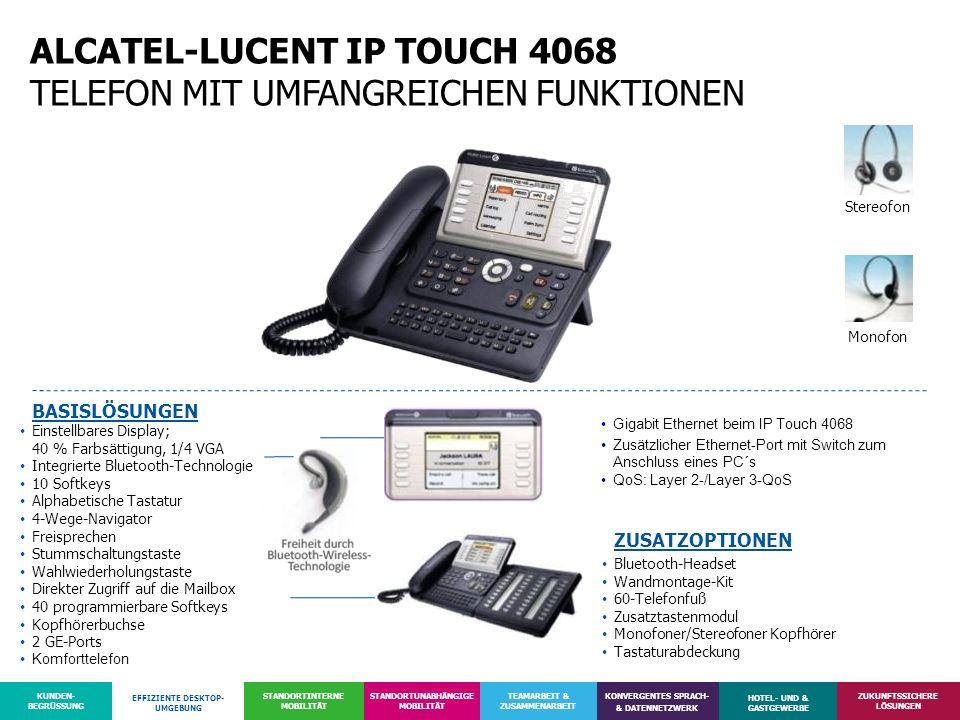 ALCATEL-LUCENT IP TOUCH 4068 TELEFON MIT UMFANGREICHEN FUNKTIONEN