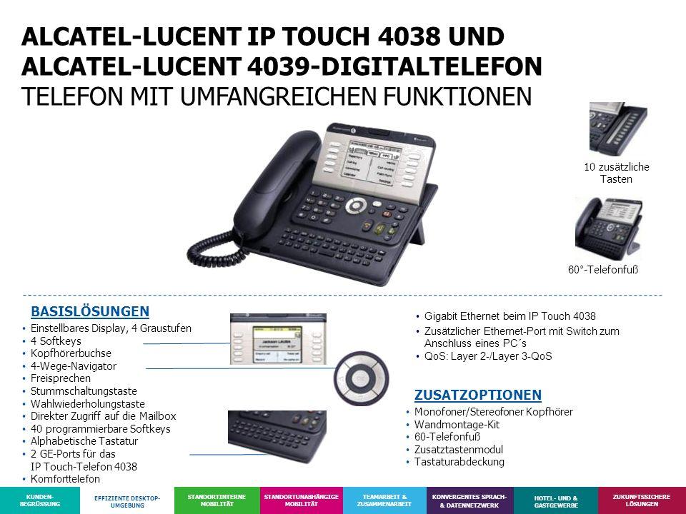 ALCATEL-LUCENT IP TOUCH 4038 UND ALCATEL-LUCENT 4039-DIGITALTELEFON TELEFON MIT UMFANGREICHEN FUNKTIONEN