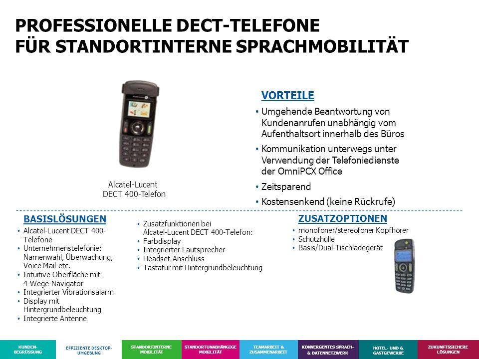 PROFESSIONELLE DECT-TELEFONE FÜR STANDORTINTERNE SPRACHMOBILITÄT