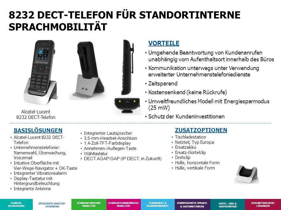 8232 DECT-TELEFON FÜR STANDORTINTERNE SPRACHMOBILITÄT