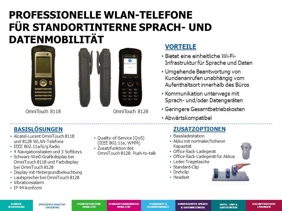 PROFESSIONELLE WLAN-TELEFONE FÜR STANDORTINTERNE SPRACH- UND DATENMOBILITÄT