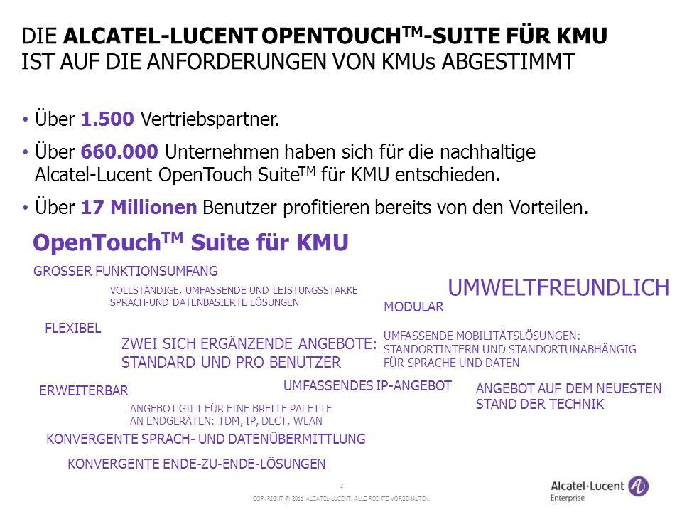 OpenTouchTM Suite für KMU